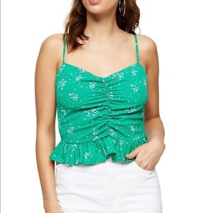 Topshop ruched cami